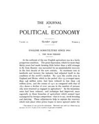 Journal of Political Economy : 1922 Oct.... Volume Vol.24 by Reny,philip