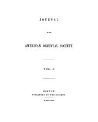 Journal of the American Oriental Society... Volume Vol.1 by
