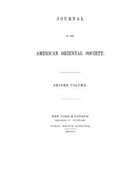 Journal of the American Oriental Society... Volume Vol.2 by