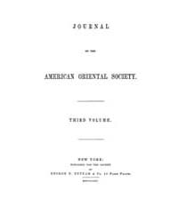 Journal of the American Oriental Society... Volume Vol.3 by