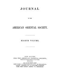 Journal of the American Oriental Society... Volume Vol.8 by