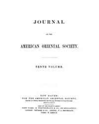 Journal of the American Oriental Society... Volume Vol.10 by