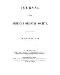 Journal of the American Oriental Society... Volume Vol.12 by