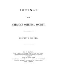Journal of the American Oriental Society... Volume Vol.11 by