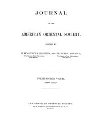 Journal of the American Oriental Society... Volume Vol.24 by