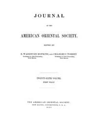 Journal of the American Oriental Society... Volume Vol.26 by