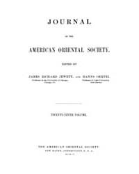 Journal of the American Oriental Society... Volume Vol.29 by