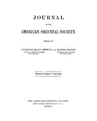Journal of the American Oriental Society... Volume Vol.31 by
