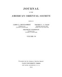 Journal of the American Oriental Society... Volume Vol.38 by