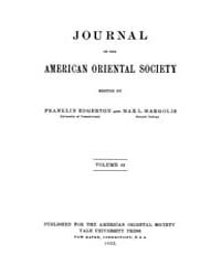 Journal of the American Oriental Society... Volume Vol.42 by