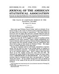 Journal of the American Statistical Asso... Volume Vol.18 by