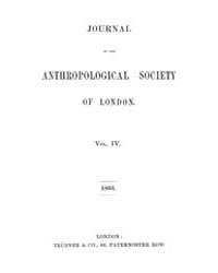 Journal of the Anthropological Society o... Volume Vol.4 by