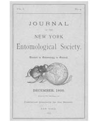 Journal of the New York Entomological So... Volume Vol.1 by