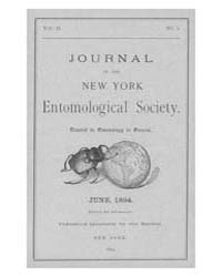 Journal of the New York Entomological So... Volume Vol.2 by