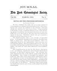 Journal of the New York Entomological So... Volume Vol.3 by