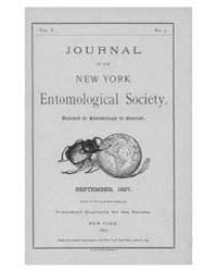 Journal of the New York Entomological So... Volume Vol.5 by
