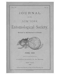 Journal of the New York Entomological So... Volume Vol.6 by