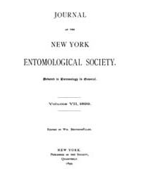 Journal of the New York Entomological So... Volume Vol.7 by