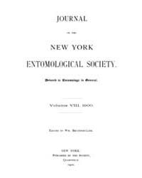 Journal of the New York Entomological So... Volume Vol.8 by