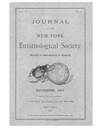 Journal of the New York Entomological So... Volume Vol.9 by