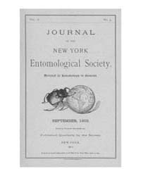 Journal of the New York Entomological So... Volume Vol.10 by