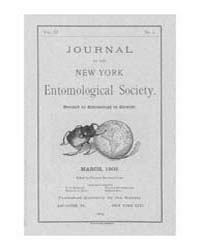 Journal of the New York Entomological So... Volume Vol.11 by