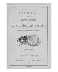 Journal of the New York Entomological So... Volume Vol.12 by