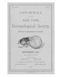 Journal of the New York Entomological So... Volume Vol.13 by