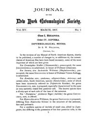 Journal of the New York Entomological So... Volume Vol.15 by