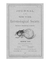 Journal of the New York Entomological So... Volume Vol.16 by