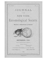 Journal of the New York Entomological So... Volume Vol.17 by