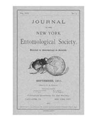 Journal of the New York Entomological So... Volume Vol.19 by