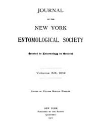 Journal of the New York Entomological So... Volume Vol.20 by
