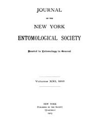 Journal of the New York Entomological So... Volume Vol.21 by