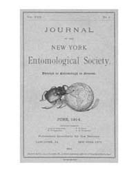 Journal of the New York Entomological So... Volume Vol.22 by