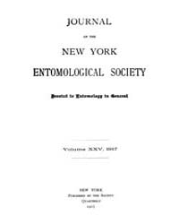 Journal of the New York Entomological So... Volume Vol.25 by