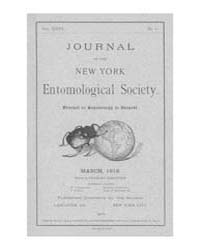 Journal of the New York Entomological So... Volume Vol.26 by