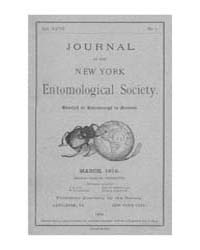 Journal of the New York Entomological So... Volume Vol.27 by