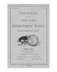 Journal of the New York Entomological So... Volume Vol.28 by
