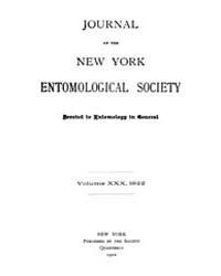 Journal of the New York Entomological So... Volume Vol.30 by