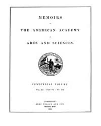 Memoirs of the American Academy of Arts ... Volume Vol. 11 by