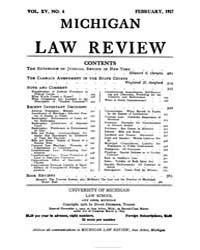Michigan Law Review : 1917 Feb. No. 4, V... Volume Vol._15 by