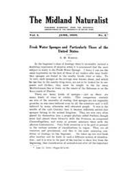 Midland Naturalist : 1909 Jun. No. 2, Vo... Volume Vol. 1 by