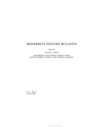 Minnesota History Bulletin : 1915 Aug. N... Volume Vol. 1 by