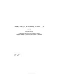 Minnesota History Bulletin : 1915 May : ... Volume Vol. 1 by