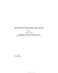 Minnesota History Bulletin : 1915 Nov. N... Volume Vol. 1 by