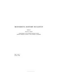 Minnesota History Bulletin : 1916 Aug. N... Volume Vol. 1 by