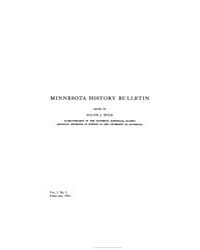 Minnesota History Bulletin : 1916 Feb. N... Volume Vol. 1 by