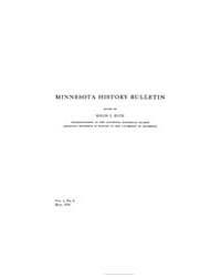 Minnesota History Bulletin : 1916 May : ... Volume Vol. 1 by