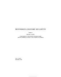 Minnesota History Bulletin : 1916 Nov. N... Volume Vol. 1 by